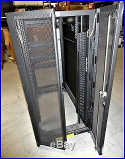 Tripp-Lite SR25UB 25U Rack Cabinet Enclosure Front/Back Doors