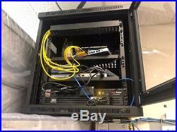 Tripp Lite SRW12USG 12U Wall Mount Rack Enclosure Server Cabinet withGlass Door