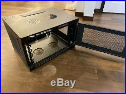 Tripp-Lite SRW6UDP SmartRack Wall-Mount Rack Enclosure Cabinet 6RU Black