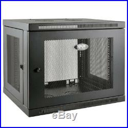 Tripp Lite SRW9UDP 9U Wall Mount Rack Enclosure Server Cabinet Low Profile Deep