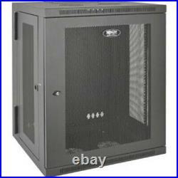 Tripp Lite SmartRack 15U Wall-Mount Rack Enclosure Cabinet SRW15US