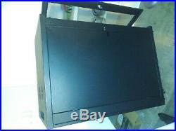 Tripp Lite Sr24ub 24u Rack Enclosure Server Cabinet & Apc. Backup Battery