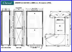(USA) 42U Server Cabinet 19 IT Network Data Rack Enclosure 600x1000 Vented Door