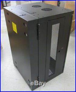 Used-SRW18USG Tripp Lite 18U Wall Mount Rack Enclosure Server Cabinet w Hinged