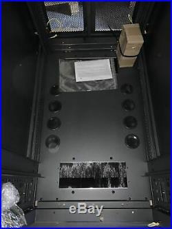 V7 42U Server Rack Mount Cabinet Enclosure Vented Adjustable RMEC42U-1N
