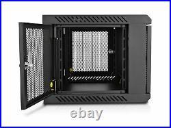 V7 RMWC6U-1N 6U Wall Mount Rack Cabinet Enclosure Fully assembled, vented do
