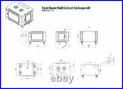 V7 RMWC6U-1N 6U Wall Mount Rack Cabinet Enclosure Fully assembled, vented door