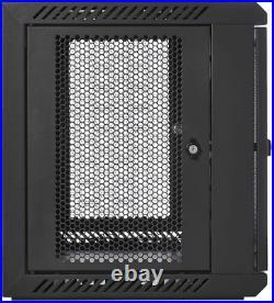 V7 RMWC9UV450-1N Rack Mount Wall Cabinet Enclosure 9U Vented
