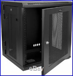 Wall Mount Server Rack Cabinet 12U Rack 17' Deep Hinged Enclosure Rack