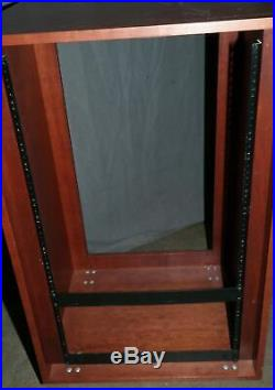 Wooden Studio Rack Rolling Cabinet Enclosure 18u 18ru Studio Wood Mount 19